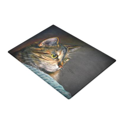 Amber Glow - Cat - Glass Chopping Boards