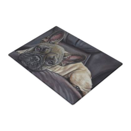 French Bulldog Glass Chopping Boards