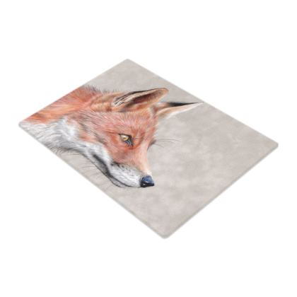 Monsieur Renard - Red Fox - Glass Chopping Boards