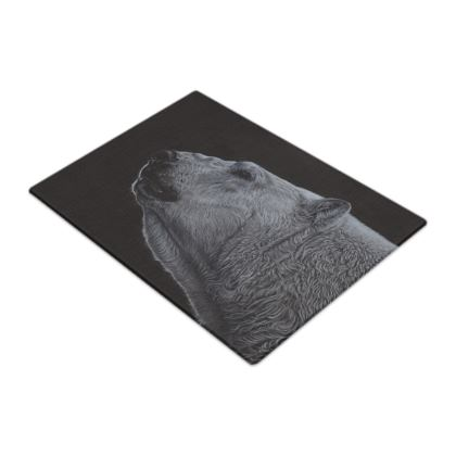 Out of the Darkness - Polar Bear - Glass Chopping Boards