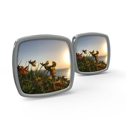Cuff Links - Bream Cove Flowers in the sunrise