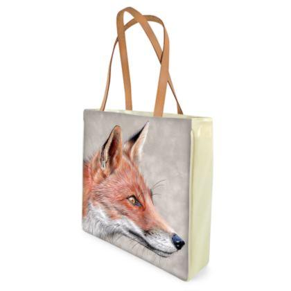 Monsieur Renard - Red Fox Shopper Bags
