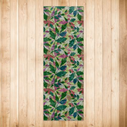 Rugs Green, Peach [180 cm x 63 cm shown]  Cathedral Leaves  Muted