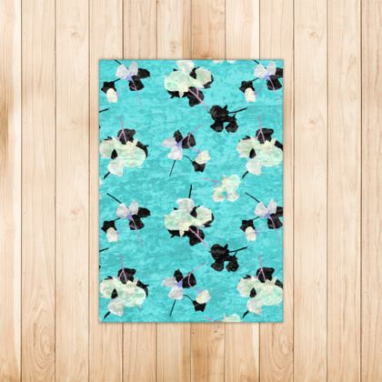Rugs Turquoise, Black, White  My Sweet Pea  Totally Turquoise