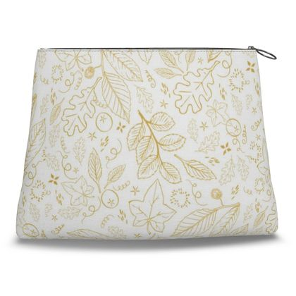 Gold Leaf Clutch Bag by Lucinda Kidney
