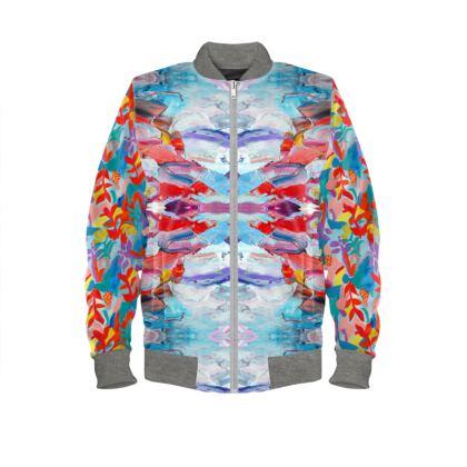 Abstract Bomber Jacket