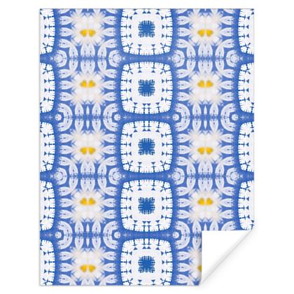 Gift Wrap, Abstract Daisies