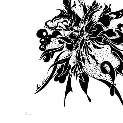 Big Tray - Stor Bricka - Black Ink2 White