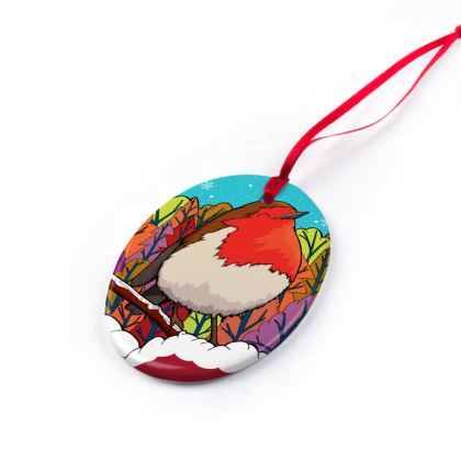 Christmas Ornaments - Big Red Robin