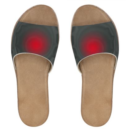 Womens Leather Sliders - Android Nucleus