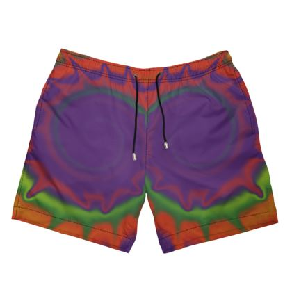 Mens Swimming Shorts - Colourful Spiked Ball