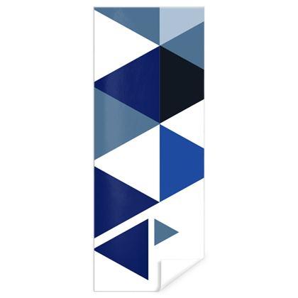 Gift Wrap - Geometric Triangles Blue