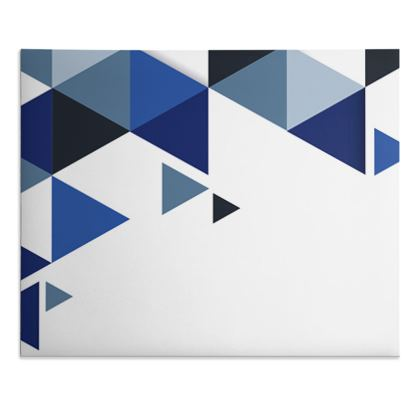 Desk Pad - Geometric Triangles Blue