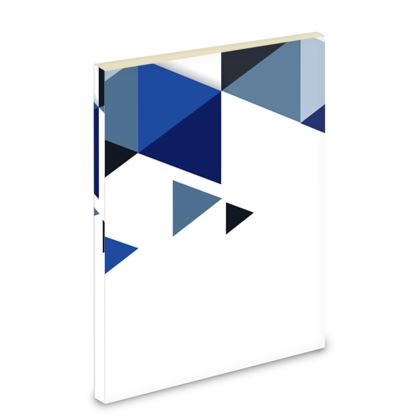 Pocket Note Book - Geometric Triangles Blue