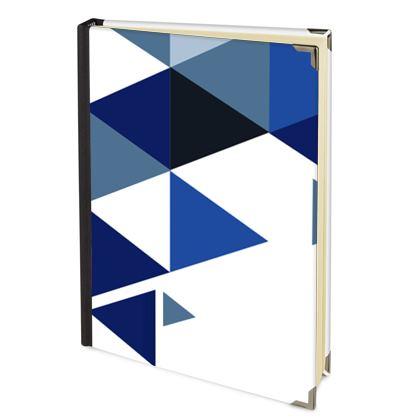 Journals - Geometric Triangles Blue
