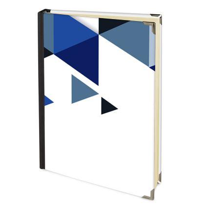Address Book - Geometric Triangles Blue