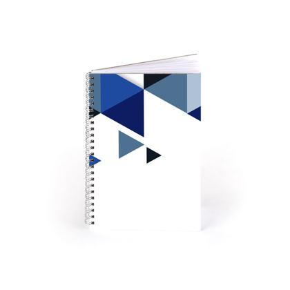 Spiral Note Books - Geometric Triangles Blue