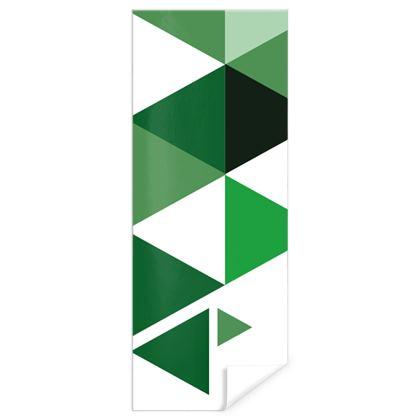 Gift Wrap - Geometric Triangles Green