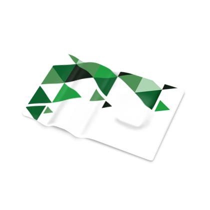 Pen Tray - Geometric Triangles Green