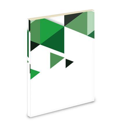 Pocket Note Book - Geometric Triangles Green