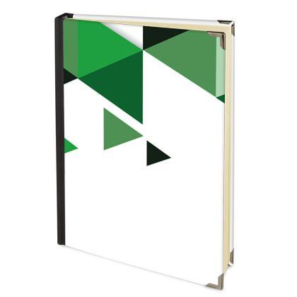 Address Book - Geometric Triangles Green