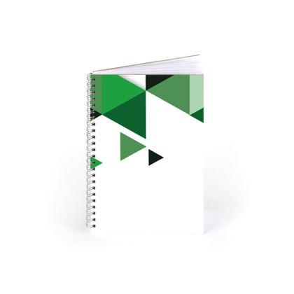 Spiral Note Books - Geometric Triangles Green