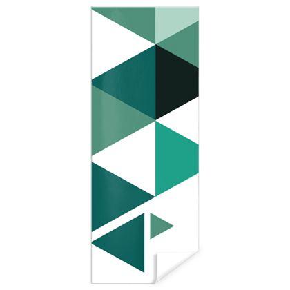 Gift Wrap - Geometric Triangles Jade