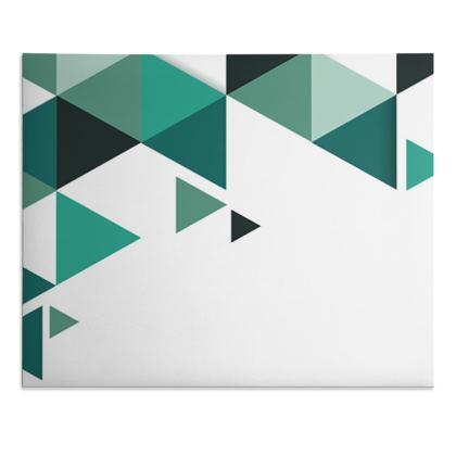 Desk Pad - Geometric Triangles Jade