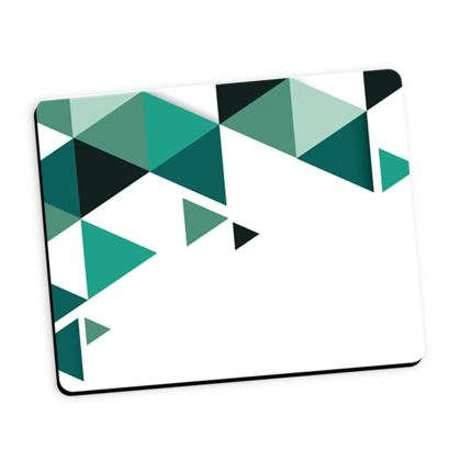Mouse Mat - Geometric Triangles Jade