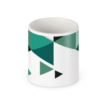 Pen Pot - Geometric Triangles Jade