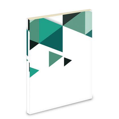 Pocket Note Book - Geometric Triangles Jade