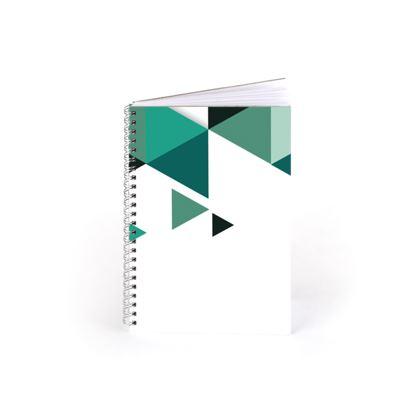 Spiral Note Books - Geometric Triangles Jade