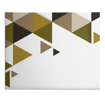 Desk Pad - Geometric Triangles Orange