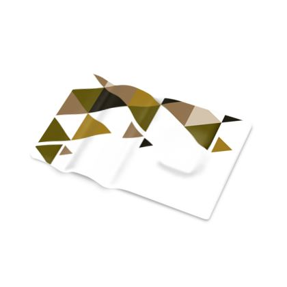 Pen Tray - Geometric Triangles Orange