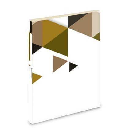 Pocket Note Book - Geometric Triangles Orange