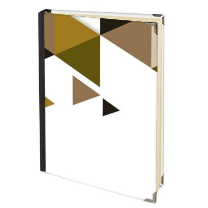 Address Book - Geometric Triangles Orange