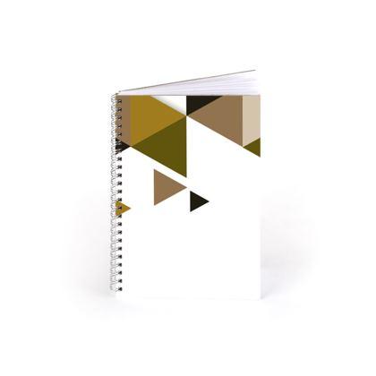 Spiral Note Books - Geometric Triangles Orange