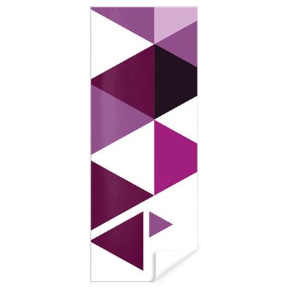 Gift Wrap - Geometric Triangles Pink