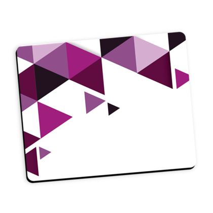 Mouse Mat - Geometric Triangles Pink