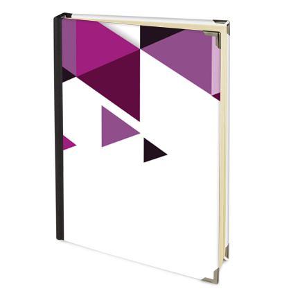 Address Book - Geometric Triangles Pink