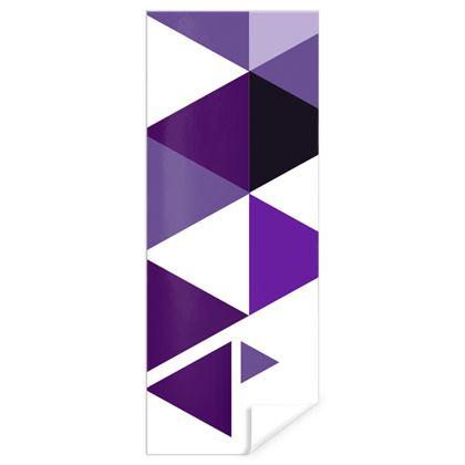 Gift Wrap - Geometric Triangles Purple