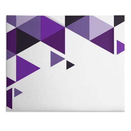 Desk Pad - Geometric Triangles Purple