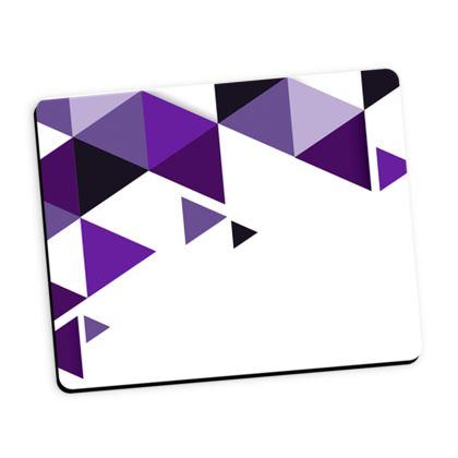 Mouse Mat - Geometric Triangles Purple
