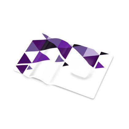 Pen Tray - Geometric Triangles Purple