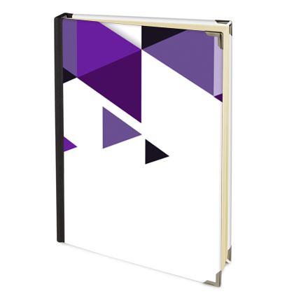 Address Book - Geometric Triangles Purple