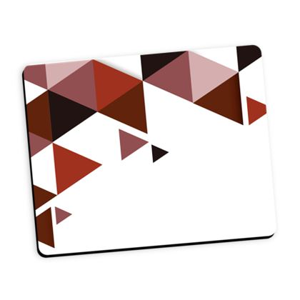 Mouse Mat - Geometric Triangles Red