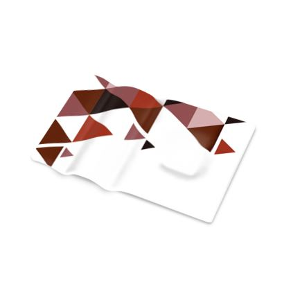 Pen Tray - Geometric Triangles Red