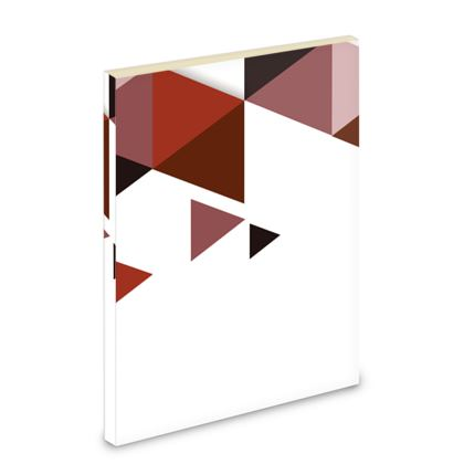 Pocket Note Book - Geometric Triangles Red