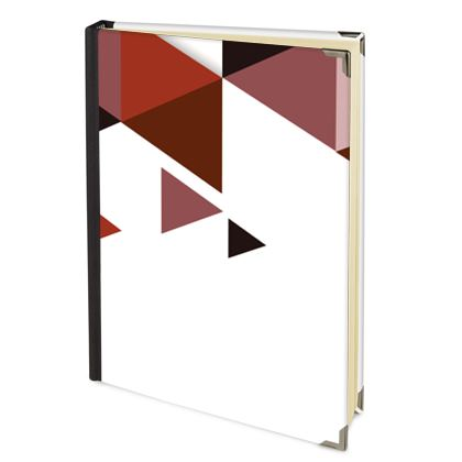 Address Book - Geometric Triangles Red
