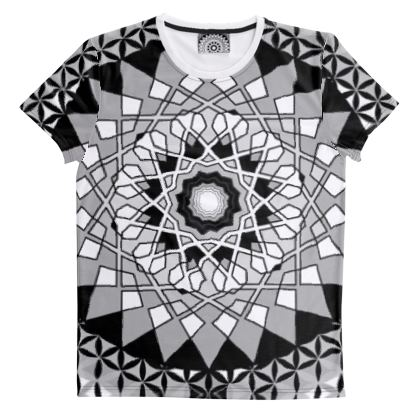 Cut and Sew All Over Print T-Shirt
